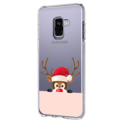 Vanki cover samsung galaxy a8 2018 custodia trasparente tpu flessibile sottile bumper case per samsung galaxy a8 2018 regali di natale serie (natale 14)