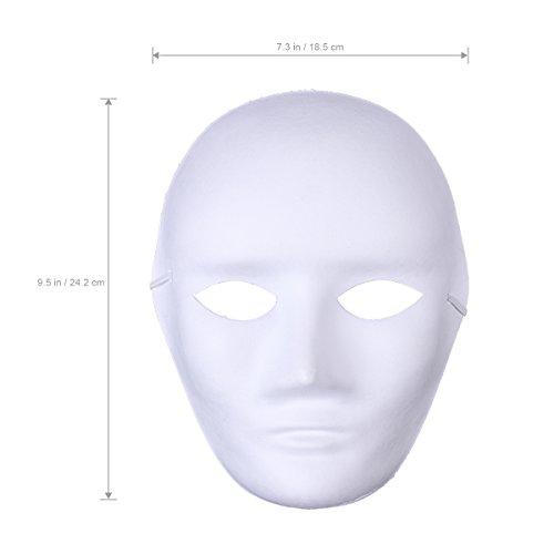 Amosfun 12 weiße Gesichtsmasken für Männer Halloween Maske blanko Malerei Maske (Männliche Beliebte Halloween-kostüme)