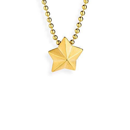 Drachenfels Stern-Anhänger in Echtsilber   Kollektion Sternenglanz & Schattentanz   Kleiner Sternanhänger aus 925 Sterlingsilber, goldplattiert