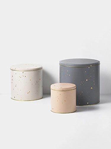 Ferm Living - Keksdosen, Plätzchendose, Gebäckdose - Confetti - 3- teilig. Weißblech