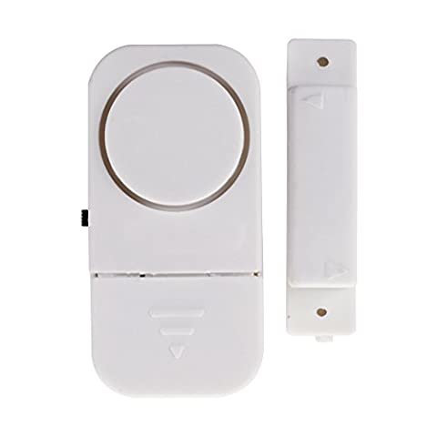 SODIAL(R) 6 Wireless Home Doors Windows Security Entry Alarm System - Easy to install Free