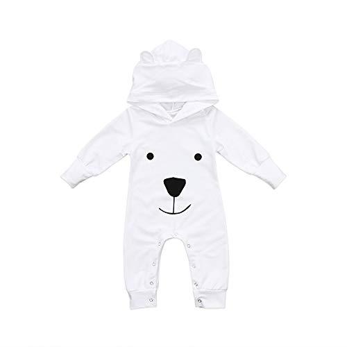 Babykleidung Satz, LANSKIRT Neugeborenes Baby Boy Mädchen mit Kapuze Cartoon Strampler Overall Outfits Kleidung 0-18 Monate