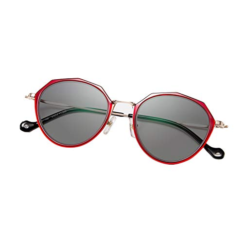 Axclg Reading glasses Intelligenter Zoom, strahlungssichere Sonnenbrille aus farbwechselndem Harz für den Außenbereich, hochauflösende UV-beständige optische Gläser, Anti-Ermüdungs-Lesebrille