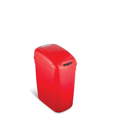 NST Neun Sterne Infrarot Berührungslose Automatischer Bewegungsmelder Deckel offen Trash kann, 5.3-Gallon rot (Papierkorb Itouchless)
