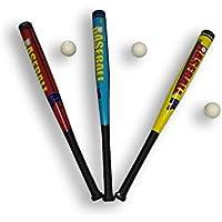 Bate de béisbol de 70 cm de plástico suave, incluye pelota de béisbol, para niños y adultos, color amarillo