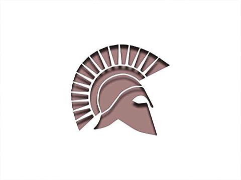 Spartan griechischen Helm Schablone–30,5x 20,3cm–190Mu Mylar A, Airbrush, Craft, Grafitti st-ml-an-00010