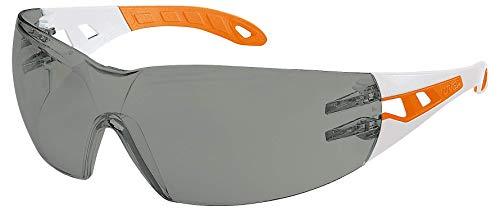 Uvex Pheos S Schutzbrille - Supravision Excellence - Getönt/Weiß-Orange