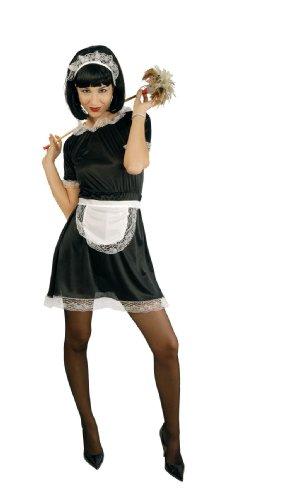 Chica Toy Kostüm - sexy Zimmermädchen Kostüm Damen Karneval Fasching Hausmädchen Putzfrau Gr. M/L, Größe:L