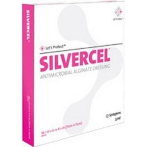 Silvercel Antimicrobial Alginate Dressing - 2 x 2 - - Box of 10 by Johnson & Johnson -