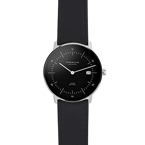 STERNGLAS NAOS Bauhaus Uhr mit Anti-Reflex Saphirglas | Schnellwechselband | KICKSTARTER |...