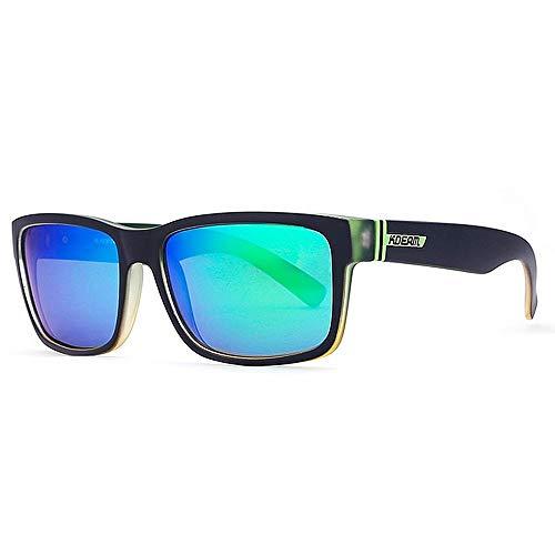 BJYG Sportsonnenbrille Square Retro Herren Sportsonnenbrille Fahren Fahrrad Angeln Baseball Golfbrille Laufen, Reiten, Angeln Sonnenbrille (Farbe: NO35)