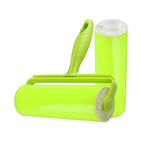 Sticky Lint Roller, Wiederverwendbare Und Waschbare Haarentfernungsbürste, Für Kleidung, Teppich, Sofa, Autositze, Staub, Haustiere Haar (Grün) -