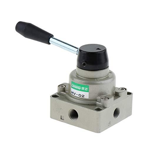 Tubayia Pneumatisches Handdrehventil Steuerventile Handschalter Luftventilsteuerung (wie beschrieben HV-02)