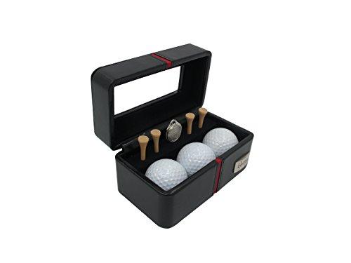 Golf-Kit Lederkästchen handgefertigtem in echtem europäischem Leder in Premium Qualität mit Bällen, Tees und Marker – Sport Geschenk by Cordays CDM-00012