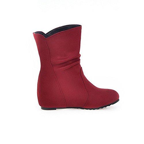 Stivali Tacco Rosso Ha Materiale Voguezone009 Solido Basso Colore Misto Tondo Donna 85RqT7w