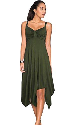 ECOWISH -  Tailleur gonna  - Donna verde militare