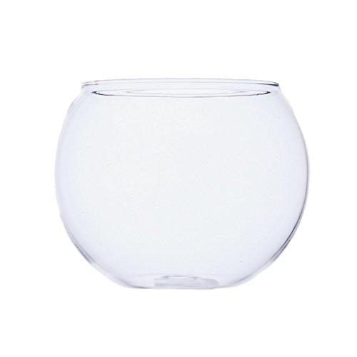 SGerste Mini-Aquarium Terrarium Display Halterung Kugel Rund Glas Fisch Tank Schildkröte Jar Home Garten Balkon Blumen Übertopf Vase