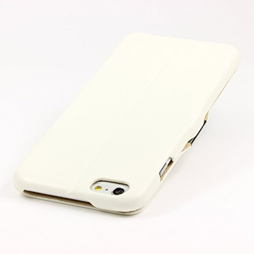Urcover® iPhone 6 Plus 6S Plus Hülle, Wallet mit [ STANDFUNKTION KARTENFACH MAGNET ] Schutz Case Etui Bookstyle Flip Cover Handyhülle für Apple iPhone 6 Plus / 6S Plus Farbe: Weiß Weiß
