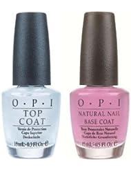 Natural Top Coat & Base Coat Nail Polish Treatment Duo 2 x 15ml