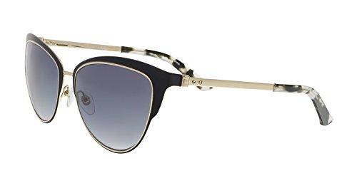 Calvin Klein Collection - CK8007S, Schmetterling, Metall, Damenbrillen, BLACK/GREY SHADED(001 A ), 57/16/135