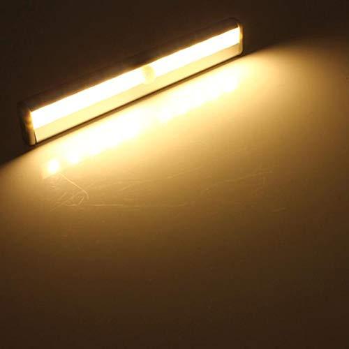 LED Leuchten DIY Stick-on Anywhere 10 LED Wireless Motion Sensing Cabinet Night Light (Weiß, Gelb) 2018 Dekoration