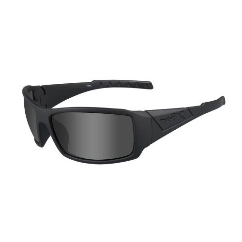 Wiley X Schutzbrille WX Twisted Sonnenbrille, unisex, Wx Twisted, Schwarz (Matte Black/Ops Polarized Smoke/Grey)