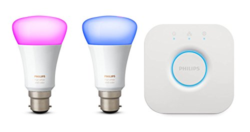Philips Hue White and Colour Ambiance Mini Starter Kit B22, 10 W