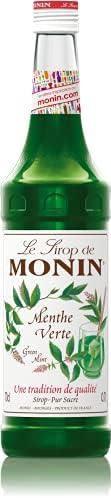 Le Tirop De Monin Green Mint Syrup, 0.7 Litre