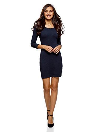oodji Ultra Damen Enganliegendes Kleid (2er-Pack), Blau, DE 38 / EU 40 / M