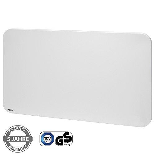 VASNER Citara M-Plus Design Infrarot-Heizung 650 Watt Metall, weiß, runde Ecken, 90x60cm, TÜV, geprüfte Sicherheit, Deckenmontage, deutsche Infrarot-Technik, Flächenheizung, Elektroheizung