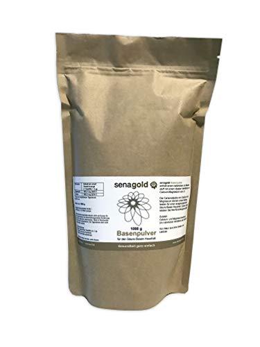 Senagold Basenpulver mit der 3-fach Wirkung (1) zur natürlichen Entsäuerung (2) für Ihre Knochengesundheit (3) deckt Ihren Calcium- und Magnesiumbedarf (1000 Gramm)