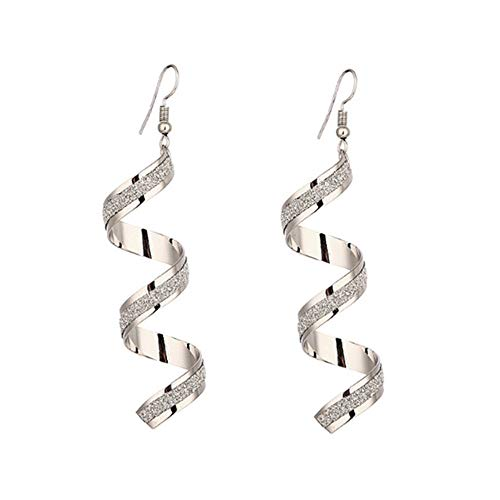 Ohrringe baumeln Ohrring Charm Schmuck Silber Gold schwarz umgeben Scrub lang Ohrringe (Silber,konventionell) ()