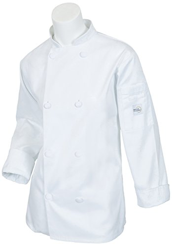 Mercer Culinary Millennia Women s Cook Jacket with Cloth Knot Buttons 5790eacf2