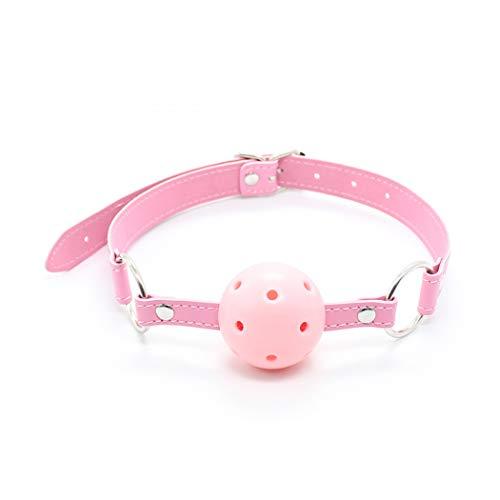 (BDSM Breathable Ball Knebel - Dial Schwarz Silikon Binding Ball Plug, Slave Dog Erotik Rollenspiele SM Binding Gag, Geeignet für Paare, Homosexuell,A6)