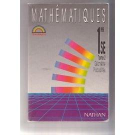 Mathématiques, 1re S, E, programme 1988
