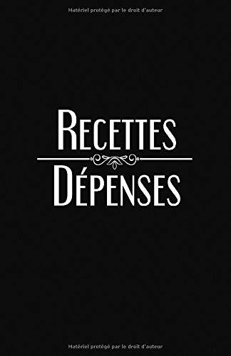 RECETTES DÉPENSES: Registre comptable simplifié | 100 pages | A5 par Subcompta Editions