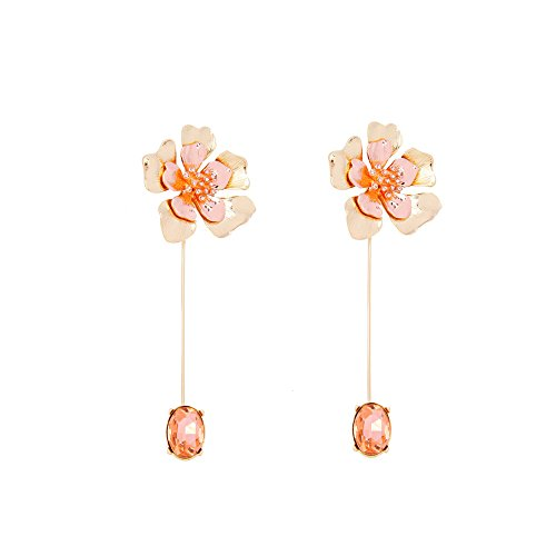 Fresh & Colorful Three-Dimensional Flower Brooch, Women\'s Jacket Cardigan Alloy Diamond Pin Brooch for Beauty Accessories