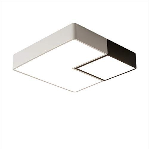 Lcningxdd plafoniera moderna da incasso plafoniera dimmerabile in ferro contemporaneo semplice quadrato led soggiorno sala da pranzo cucina apparecchio a sospensione