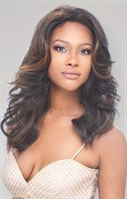 Freetress Equal Lace Front Baby Hairline Wig - Tori Color 1 by Freetress (English Manual)