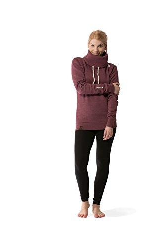 JUMPSTER Turtleneck Hoodie EXQUISITE Damen & Herren Kapuzenpulli, extra weicher Sweater mit Kragen MADE IN EU (slim / regular) Exquisite Red