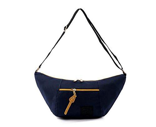 Angewandt Unisex Tasche CanvasShopper Schultertasche Handtasche Vintage Portemonnaie 7 Farben wählbar Blau