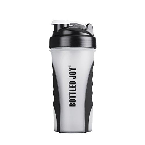 BOTTLED JOY Wasserflasche, Protein-Shaker-Flasche mit Mix-Ball, BPA-frei, auslaufsicher,...
