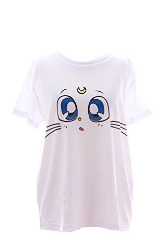 t Sailor Moon Artemis weiß Harajuku Japan Trend Fashion Süß Kawaii-Story (Harajuku Kawaii)