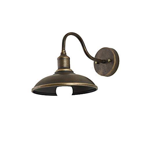 KONLL American Outdoor Doorway WaterproofAnti-Rust Lightings Wandleuchte Retro Balkon Terrassenleuchte Wandleuchte Außenbeleuchtung Lampe (Color : Bronze-2 pcs) -