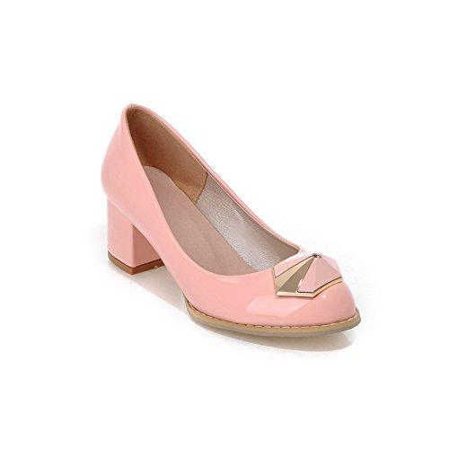 BalaMasa, antiscivolo, tacco basso, materiale morbido pompe-Shoes Pink