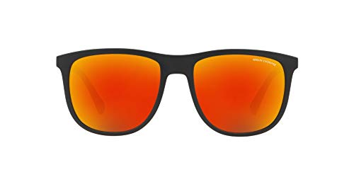 Armani Unisex Sonnenbrille Exchange AX 4078S 80786Q verspiegelt, 56mm