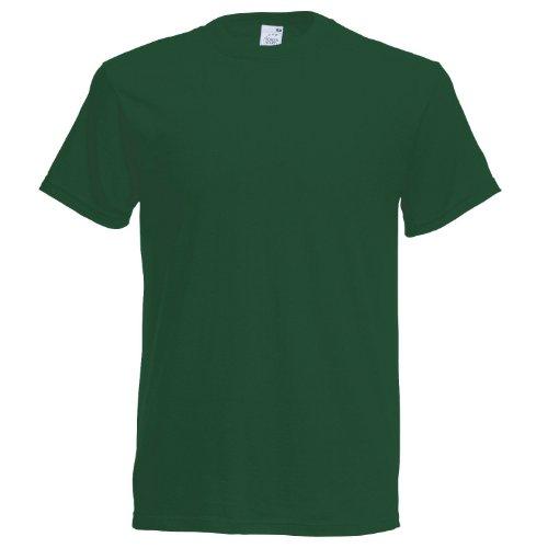 Fruit of the Loom Herren T-Shirt Grün - Bottle Green