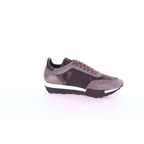 Moncler C209a1019100019cz Sneakers Hommes Gris Et Vert Militaire