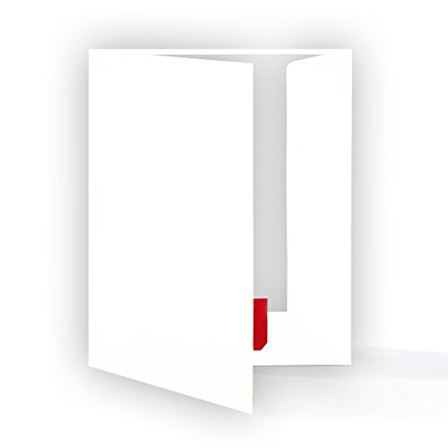 Hochwertige Präsentationsmappe 10 Stück- DIN-A4 HOCHWEISS stabiler durchgefärbter 320g/m² Karton...