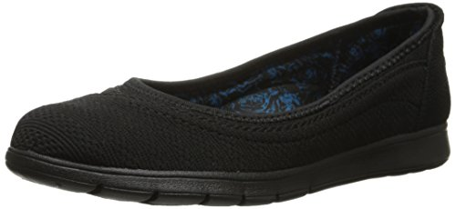 Bobs by Skechers Pureflex Supastar Damen Rund Textile Slipper Black